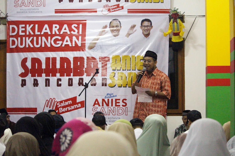 FOTO – Warga Pancoran Deklarasikan Rumah Sahabat Anies-Sandi
