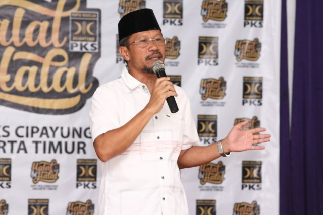 Sambutan Bendahara DPD PKS Jakarta Timur Bpk. Rohmani pada HBH PKS Cipayung