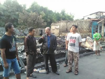 Aleg DPRD Kunjungi Korban Kebakaran Kembangan Jakarta Barat